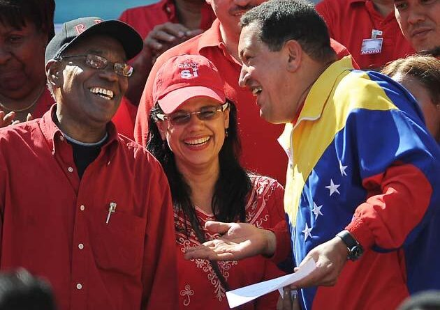 Featured image: From left to right: Aristobulo Isturiz, Blanca Eekhout and Hugo Chavez. File photo.