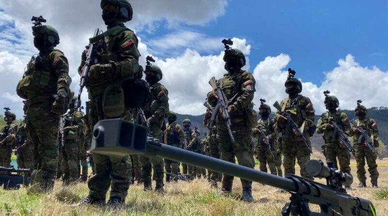 Venezuelan army special operation forces deployed in the border with Colombia, APure state. Photo courtesy of CEOFANB.