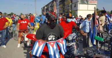 Global day of action against US blockade on Cuba. Photo courtesy of HispanTV.