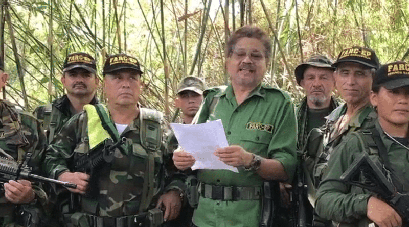 FARC-EP with spokesperson Iván Márquez (La Tabla/Twitter)