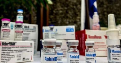 View of vials of the Cuban vaccine candidate Abdala during a press conference in Havana, on March 19, 2021 (Photo: Katell Abiven / AFP)