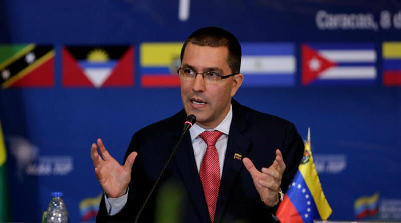 Venezuelan Minister for Foreign Affairs, Jorge Arreaza, amazed by expected answer from Colombia to Venezuelan call to the UN to help for better coordination amid violence incursions of COlombian paramilitaries in Venezuela. File photo.