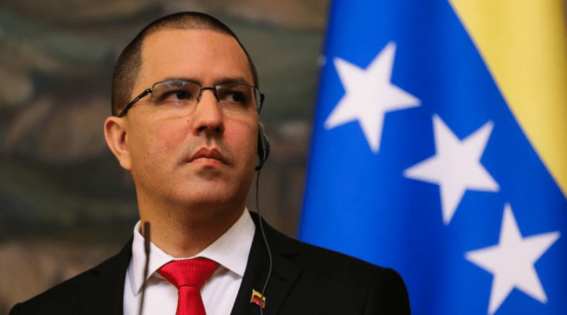 Featured image: Venezuelan minister for foreign affairs, Jorge Arreaza denounced US Under Secretary of State Chung's tweet about illegal sanctions as a new probe for the ICC. File photo.