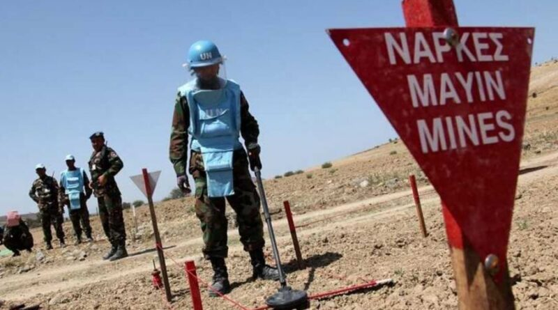 Featured image: UNFICYP announces that 18 suspected hazardous areas in Cyprus are declared mine-free on December 2019. File photo.