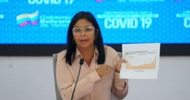Featured image: Vice President of the Republic, Delcy Rodríguez, during the weekly report of covid-19 incidents.