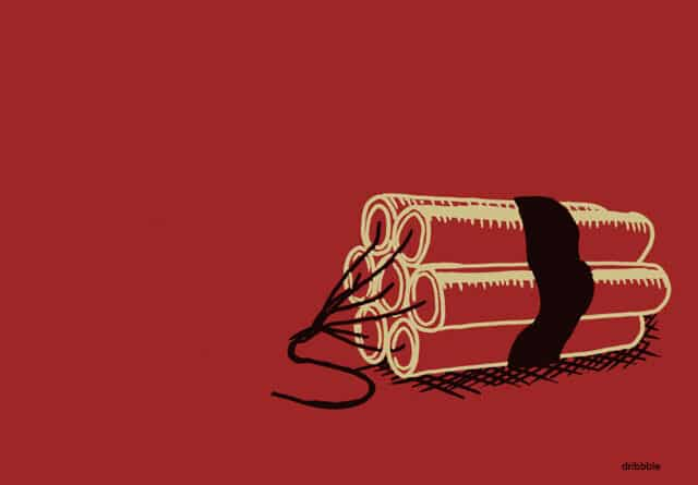 Sticks of dynamite -artist: dribbble