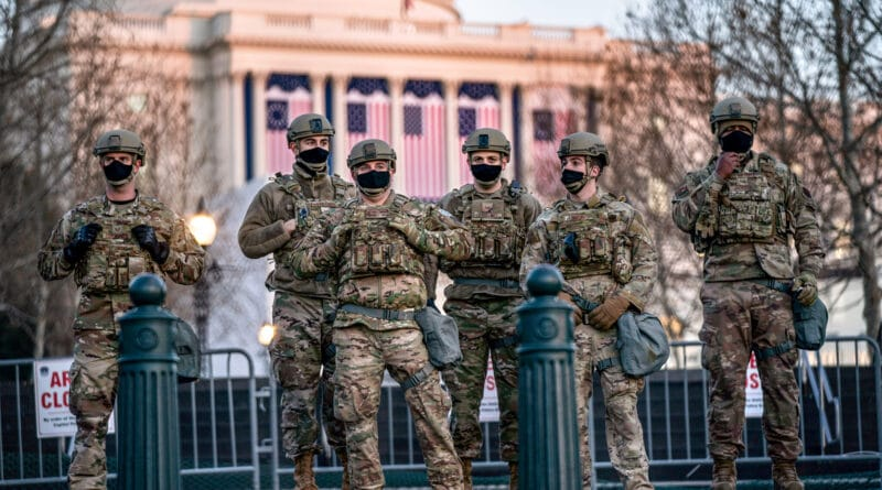 US troops defend the Capitol in Washington, DC