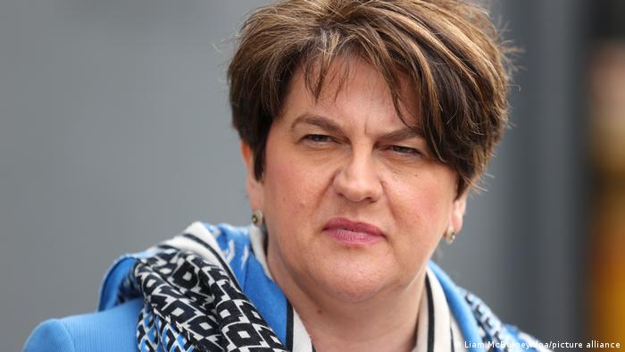 Arlene Foster will step down as leader of the DUP on May 28. Photo: Liam McBurney/Picture Alliance.