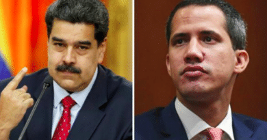 President Maduro and former deputy Guaido. File photo.