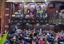 Featured image: The LGBTQ flag raised on Venezuelan National Assembly. Photo courtesy of @VE_Igualitaria .