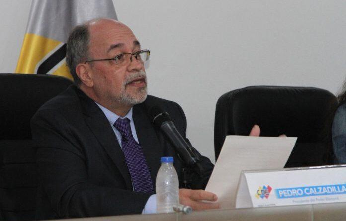 Featured image: Pedro Calzadilla the head of Venezuela's CNE. Photo courtesy of RedRadioVE.