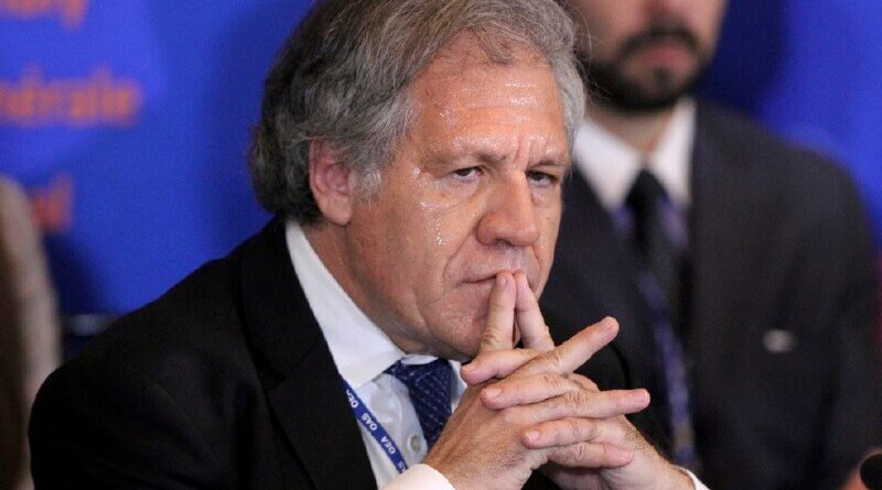 """Featured image: While dozens of Colombians are being killed, injured and sexually abused by Ivan Duque's repressive apparatus, OAS Luis Almagro is busy trying to keep alive the failed US """"regime change"""" operation against Venezuela, File photo."""