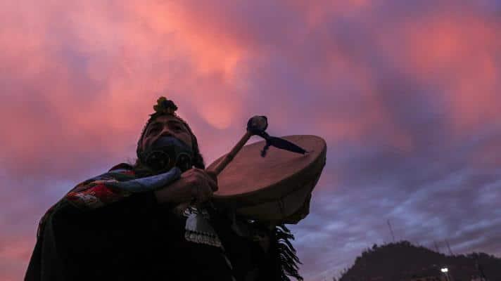 Juana Millal, Mapuche candidate for the Constituent Convention of Chile (Photo: Esteban Félix / AP) .