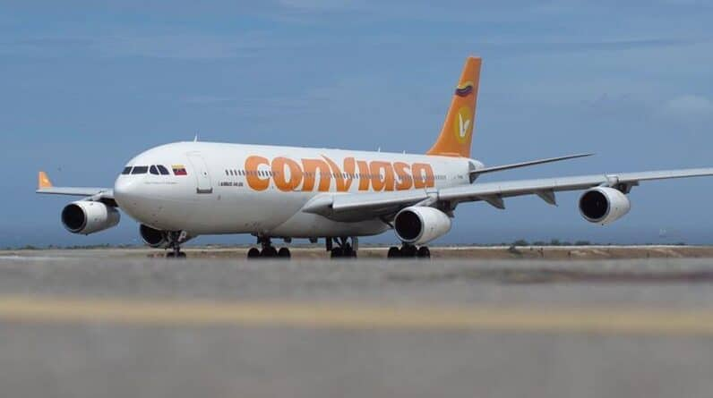 Conviasa jet arriving at the Simon Bolivar airport serving Caracas. FIle photo.