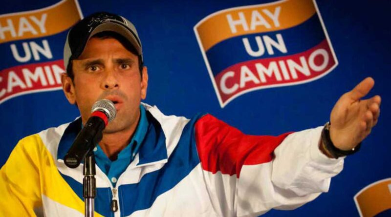 Featured image: Enrique Capriles a zigzagging member of Venezuela's opposition. File photo.