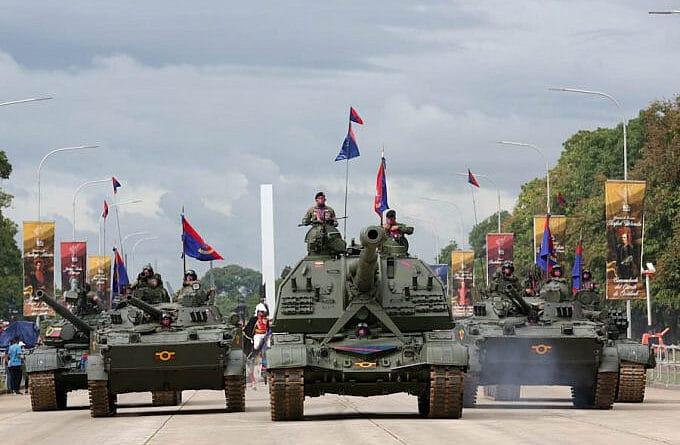 Parade commanding unit. Photo courtesy of Presidential Press.