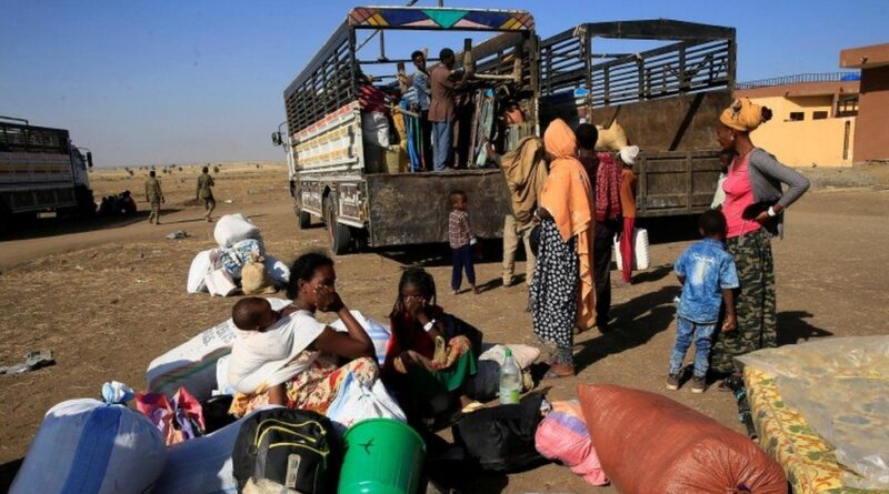 More than 40,000 people are estimated to have fled Tigray to neighbouring Sudan. Photo courtesy of the BBC.
