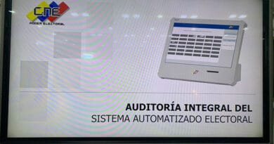 Slideshow presented to the press about the comprehensive audit on the Venezuelan voting system. Image courtesy of @taniadamelio