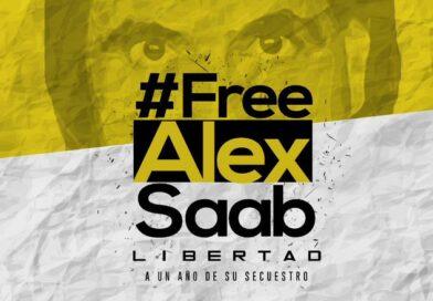 #FreeAlexSaab banner. File photo.