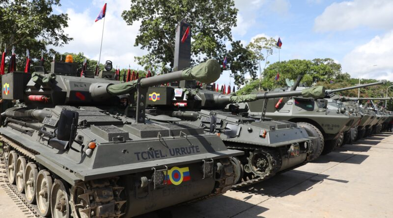 Part of the military vehicles already refurbished or putted back into operation. Photo courtesy of @PrensaFANB