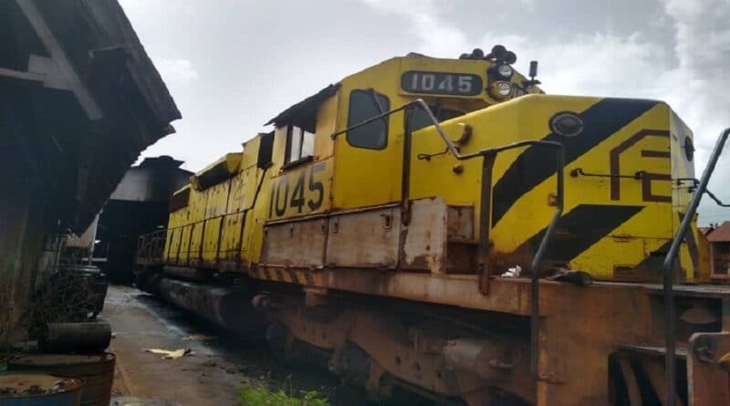 Locomotive 1045. Photo: CVG Ferrominera / Zona Obrera Press.