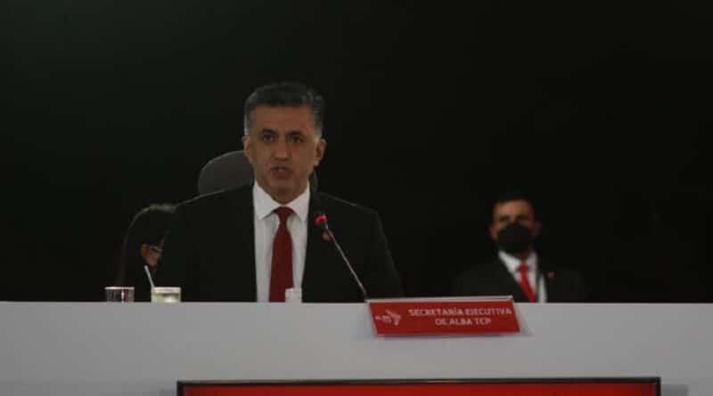 ALBA-TCP Secretary General, Sacha Llorenti. Photo courtesy of VTV.