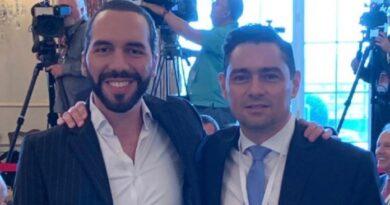 Salvadorian President Nayib Bukele and Venezuelan fake ambassador to the US, Carlos Vecchio. Photo courtesy of RedRadioVE.