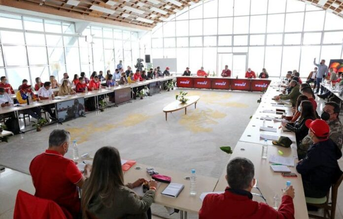 PSUV meeting in Caracas in preparation for 21N Regional Elections. Photo courtesy of RedRadioVE.