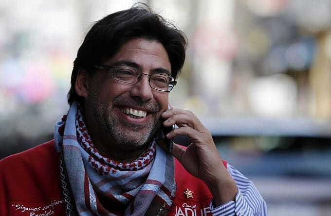 In the photo Daniel Jadue presidential race contender representing Chilean Communist Party. File photo.