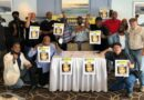 USW Local 8751 member showing support for the delegation and for Alex Saab. Photo courtesy of USW Local 8751.