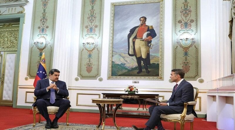 President Maduro interviewed by US news corporation Bloomberg in the Miraflores Palace, Jun 18. Photo courtesy of VTV.