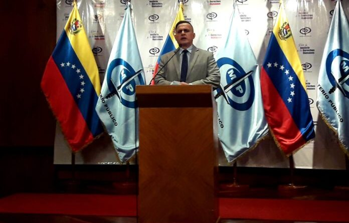 Venezuela's Attorney General Tarek William Saab during the press conference. Photo courtesy of RedRadioVE.