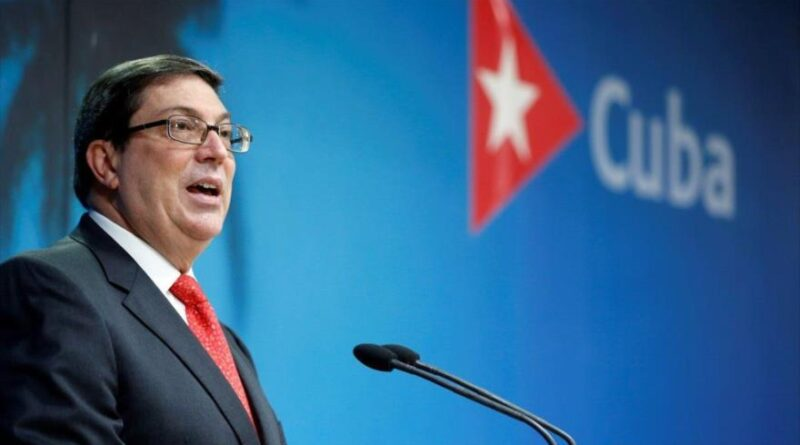 Cuban Minister for Foreign Affairs Bruno Rodriguez. File photo courtesy of AFP.