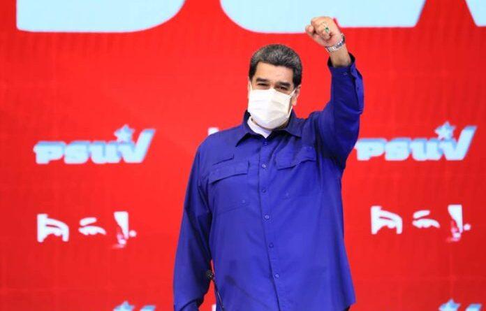 President of Venezuela Nicolas Maduro during a PSUV meeting. Photo courtesy of Prensa Presidencial.