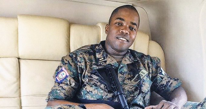 Dimitri Hérard, the head of personal security for Jovenel Moise in Haiti. File photo.