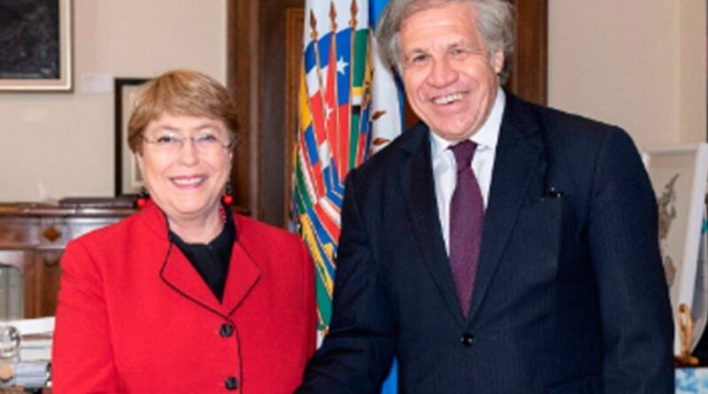 Michell Bachelet and OAS's Luis Almagro. FIle photo.