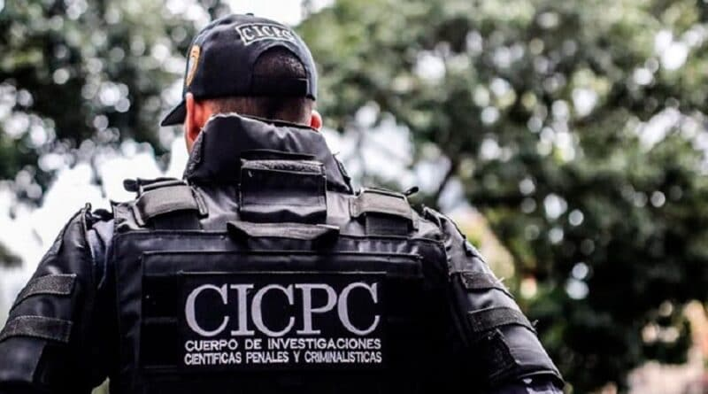 CICPC agent wearing a bulletproof vest. File photo.