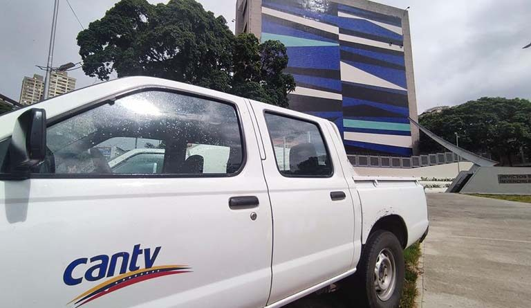 CANTV truck in Caracas. File photo.