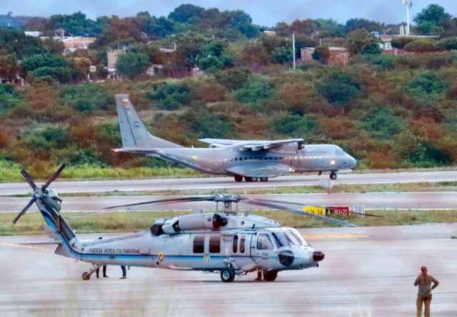 Colombia's presidential helicopter allegedly attacked by FARC-EP groups. File photo.