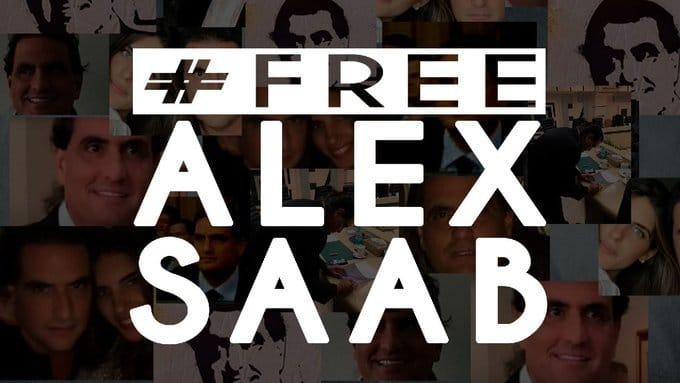 #FreeAlexSaab poster. FIle image.