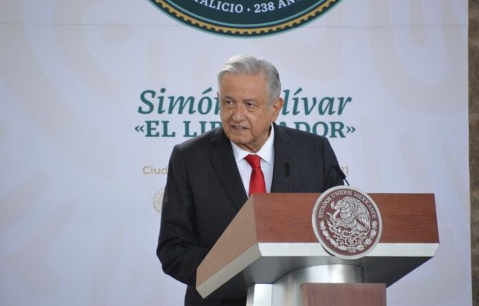 Andrés Manuel López Obrador, the Mexican President during a ceremony celebration the birth of Simon Bolivar, the Liberator within the framework of CELAC. Photo courtesy of RedRadioVE.