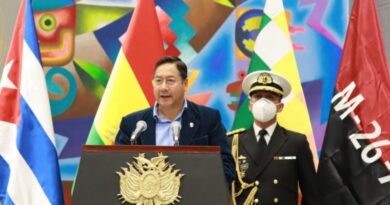 Bolivia will Send Food and Syringes to Cuba
