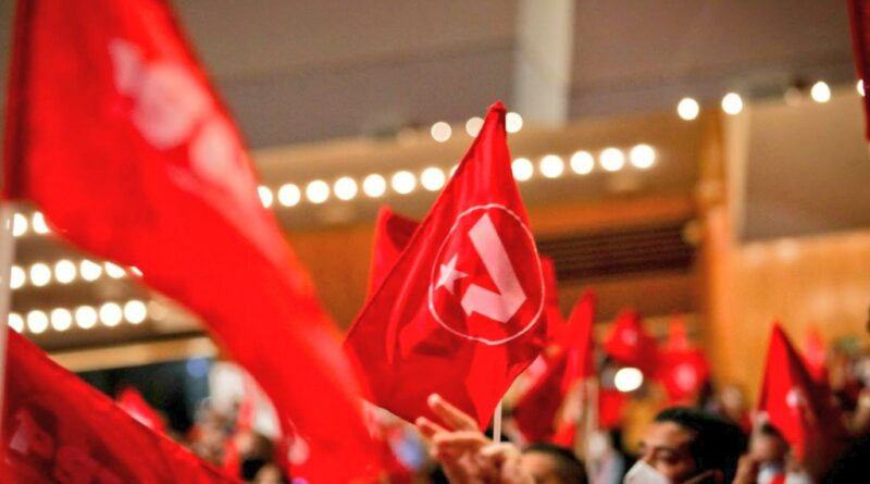 PSUV flags being hold by party members during a congress. File photo.