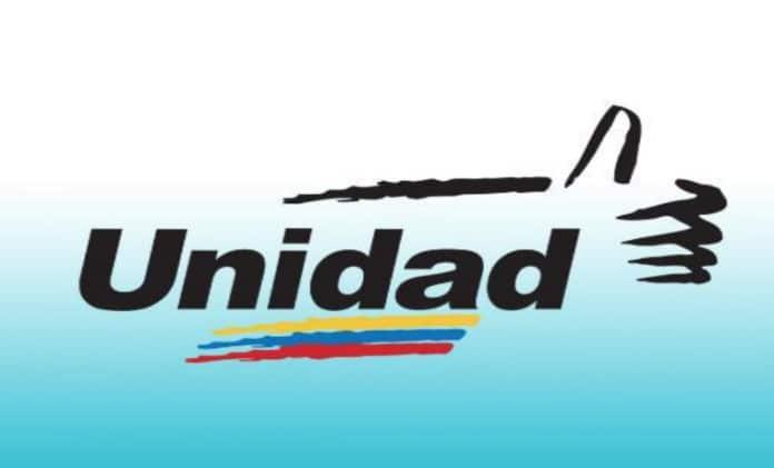 Electoral logo of the Mesa de la Unidad Democratica (Democratic Unity Table) know by its acronym as MUD. File photo.