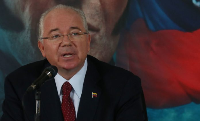Former PDVSA's CEO and fugitive Rafael Ramirez. File photo.
