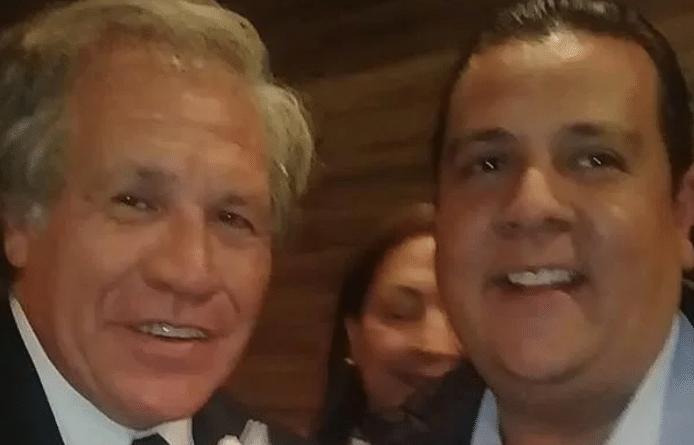 Javier Tarazona (Fundaredes) and Luis Almagro (OAS) in 2017. File photo courtesy of La Nacion Web.