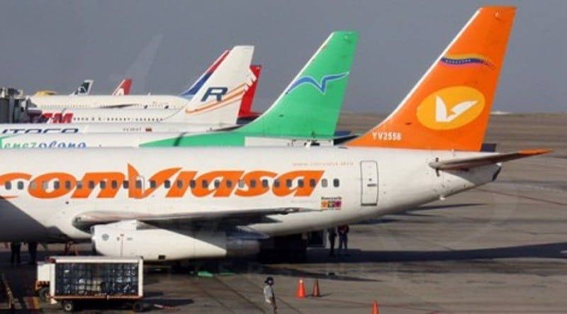 Commercial airlines jets in the Simon Bolivar National Airport. File photo.