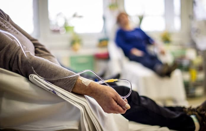Cancer patients receiving chemotherapy.File photo.