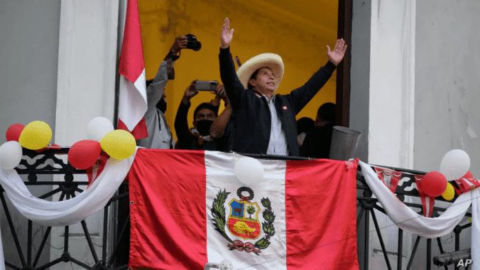 Pedro Castillo, officially president elect from Peru. File photo courtesy of AP.
