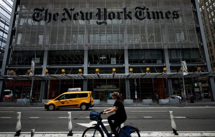 he New York Times headquarters. File photo.